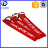 Customized Remove Before Flight Keychain , Remove Before Flight Embroidery Keyring , Airlines Promotional Gifts Key Chain