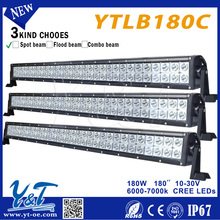 super promotion 30inch dual row car led light bar spot flood, 180w 4WD LAMP led light bar offroad