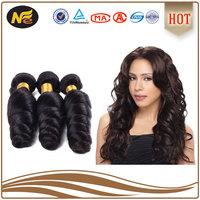 grade 7A human hair weaves loose wave Brazilian wavy wholesale hair weave