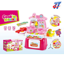 Plastic toy kitchen set with light and music