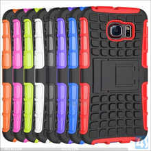 Popular Undertakable Shockproof Mobile Case for Galaxy S6 Edge Hybrid PC Silicon Amor Phone Case for Samsung Galaxy S6 Edge