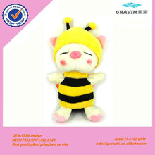 Plush cute bee toy