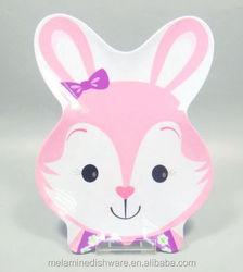 Lovely Rabbit Fruit Melamine Plate for Children