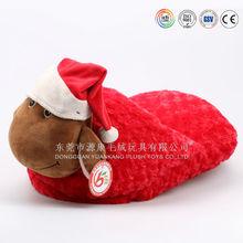 2015 woman lady indoor slipper plush slipper with animal shape
