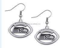Hot NFL Team Logo Charms Earrings Seattle Seahawks charms earrings