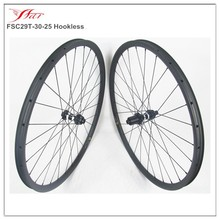 Chinese top end mtb 29er carbon bike wheel, mountain bicycle wheels 29er hookless rim with DT 350S Disc hub central lock straigh
