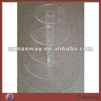 5 Tier 5mm Thick Round Acrylic Plexiglass Wedding Party Cup Cake Display Stand Holder