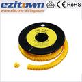 marcador de cable para los cables eléctricos con diferente tamaño
