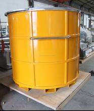 recipiente de mezcla de acero inoxidable con engarces para horquillas