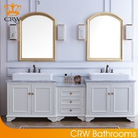 CRW GSP8708 Country Style Double Sink Bathroom Vanity