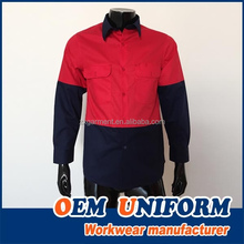 Reflective Work Shirt Two tone Custom Make with High Quality