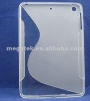 ultra thin S line gel tpu case for ipad mini, for mini ipad case tpu ,for ipad mini case ultra thin