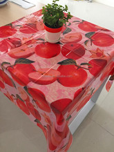 transparent printed table cloth for sale plastic clear printed table cloth table cover