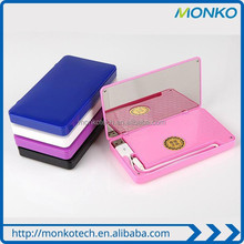 2015 Best Popular Slim 6000mah Mirror Mini Pocket mobile power bank for ladies gifts