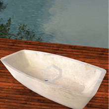 New model beige marble stone sitting bathtub
