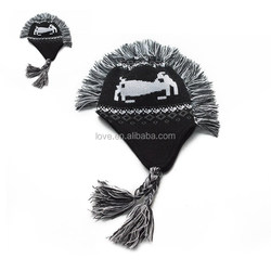 New Style Promotion Knitting Pattern Children Roman Hats With Ear Flaps
