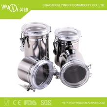 High Quality Stainless Steel Sealed Cans(4 pieces)/seasoning box/tea pot/preservation bowl three-piece