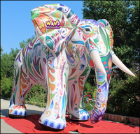 Colorfull!!! 2015 4m inflatable elephant custom/cartoon/model/character W539