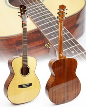wholesale all solid wood acoustic guitar with OM body