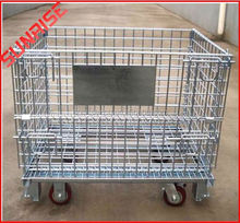 Evergreat pallet wire mesh container for rack