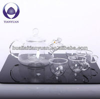 chinese dragon shaped hand made crystal glass dinner set