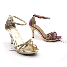 hot sell fashion high heel lady studded sandals