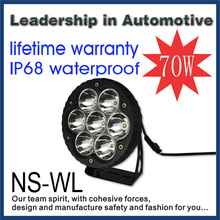 2015 new product 70W 11000lm IP68 certified CREE led tuning light led work light