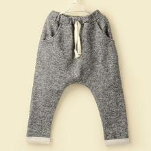 KIDS AUTUMN CLOTHES,PLAIN HAREM PANTS FOR KIDS,CHILDREN'S ELASTIC TROUSERS