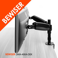 Gas Spring Structure Folding Swivel Adjustable Desk LCD Monitor Arm Stand With Desktop Monitor Stand