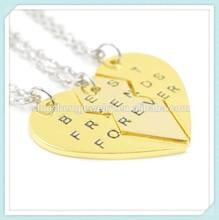 Friend birthday gift friendship symbol fashion gold 3 best friends necklaces