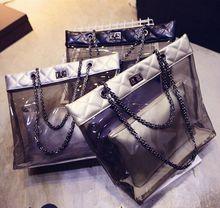Ladies summer clear pvc ladies tote bags