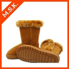 Winter half-calf women sheepskin snow boot