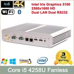 Dual RJ45 hystou core i5-4258u shenzhen computer Dual core quad thread mini pc baytrail mini pc intel atom 64gb Bluetooth 3.0