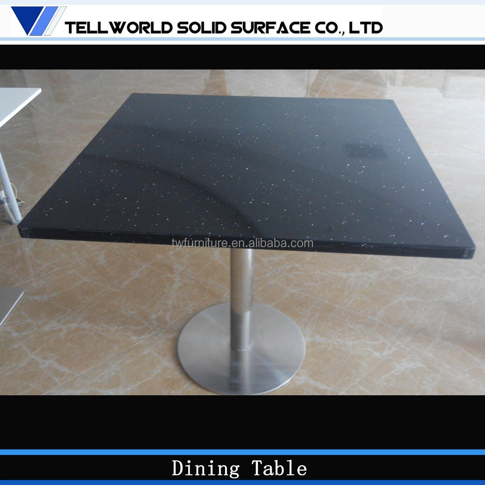Customized quartz stone top dining tables buy quartz for Quartz top dining table