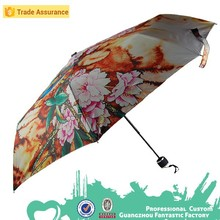 promotional flower printed umbrella drucken regenschirm