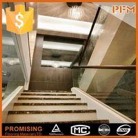 Super luxury villa design decorative wrought iron indoor stair railings