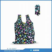Lovely cheap polyester foldable tote bag