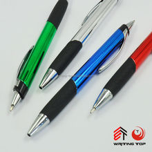 2015 double sided exclusive silver metal ballpoint pen