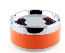 price of latest gift items stainless steel beautiful metal cigar hole ashtrays with lid