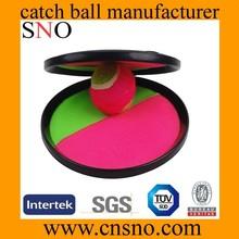 plastic velcro ball catch set / plastic beach throw catch ball set