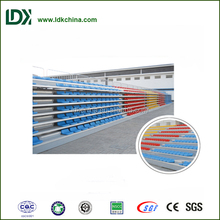 Outdoor seating portable retractable seating system for basketball