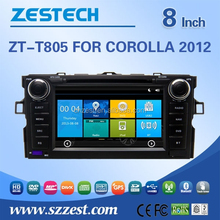 for Toyota Corolla 2012 auto steering wheel 8'' double din car cd player car dvd music radio gps function zt-t805