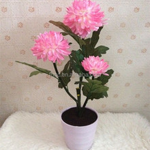 Artificial led flower with pot