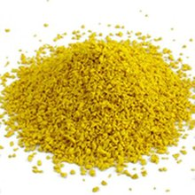 brilliant yellow Rubber granules