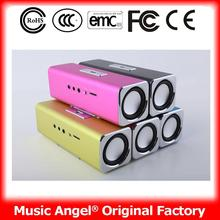 Music Angel JH-MAUK2B laptops with free shipping for learn portable speaker support usb flash drive fm radio cord for game