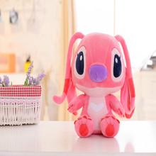 25cm/35cm/45cm/70cm/90cm lovely customized red stuffed plush Stitch animal toy with cartoon eyes&big ears