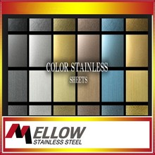 Mellow black mirror PVD coated 8K Finish 304 4x8 Design Decorative Color Stainless Steel Sheet