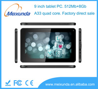 cheap tablet pc smart allwinner A33 quad core no brand tablet pc 9 inch