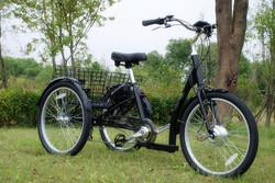 Folding rear basket three wheels 24 inch dis brake cargo tricycle/cargo bike/tricycle GW 7019