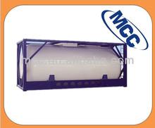 Tanque LO2 horizontal de almacenamiento de oxígeno líquido.